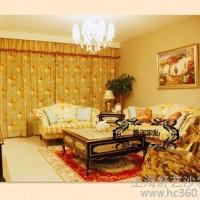 定制            欧式田园 布艺沙发 新古典客厅沙发单/双/三人出口美国印花布