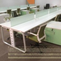 14时尚新款多人组合屏风位钢木职员桌办公台zhpfw035