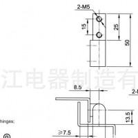 上海练江 CL204-3F  电柜铰链 电柜门锁 工业铰链 柜铰链